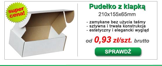 Pudełko kartonowe z klapką białe