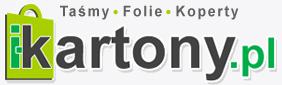 i-kartony.pl - logo sklepu producenta pudełek kartonowych i opakowań tekturowych, oferującego ich sprzedaż online